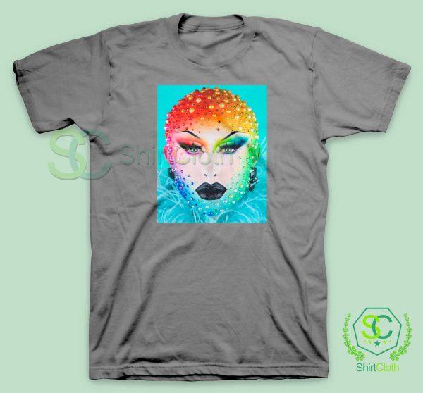 Beauty-Blu-Hydrangea-Gray-T-Shirt