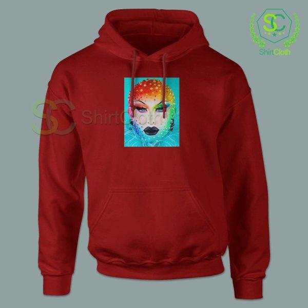 Beauty-Blu-Hydrangea-Red-Hoodie