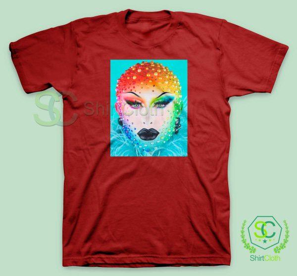 Beauty-Blu-Hydrangea-Red-T-Shirt