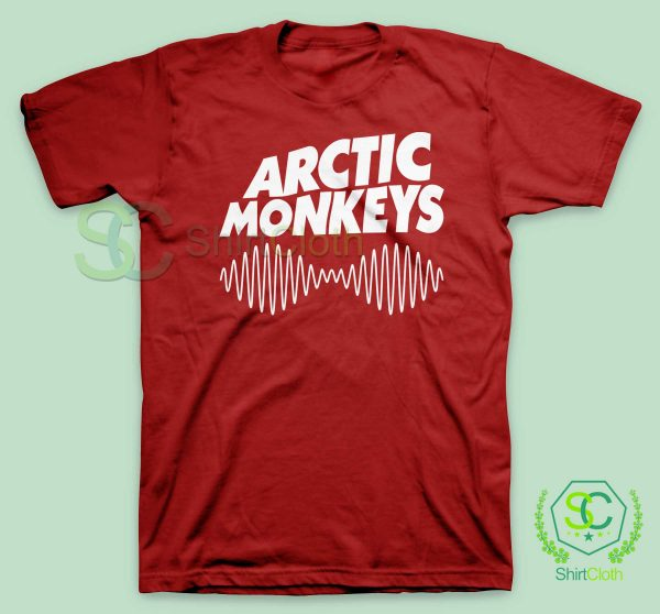 Arctic Monkeys Music Band Red T Shirt