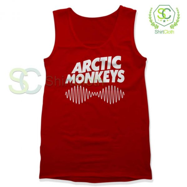 Arctic-Monkeys-Music-Band-Red-Tank-Top