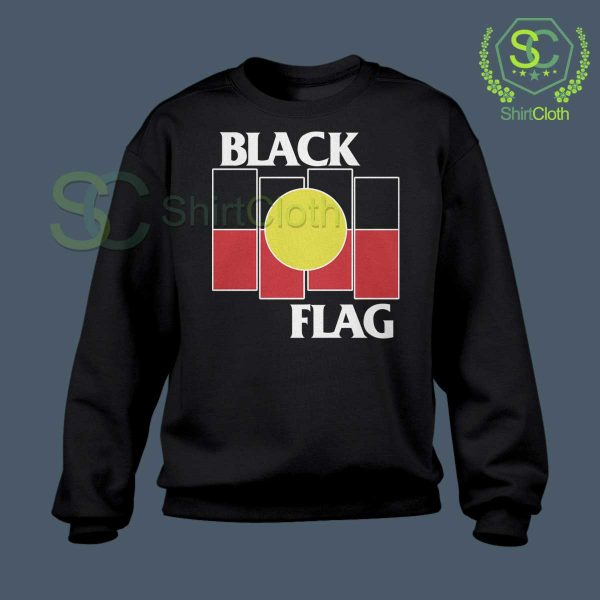 Black Flag X Aboriginal Black Sweatshirt