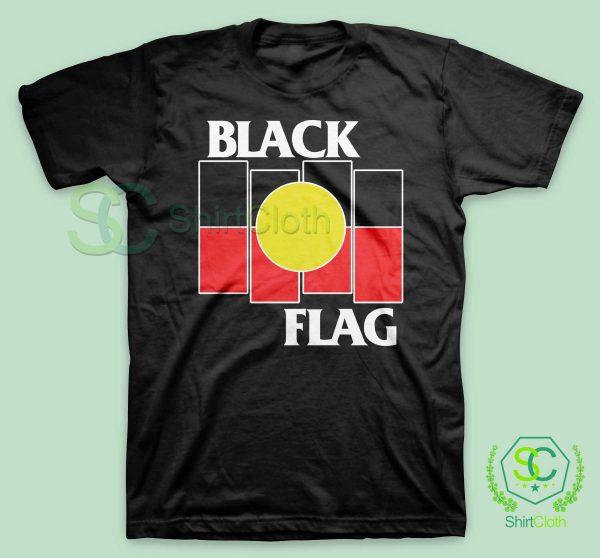 Black Flag X Aboriginal Black T Shirt