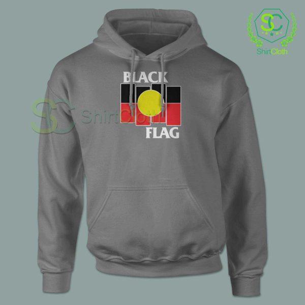 Black Flag X Aboriginal Gray Hoodie