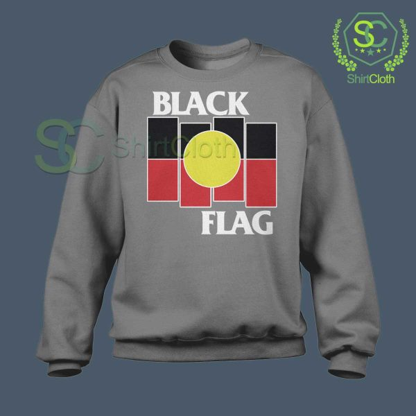 Black Flag X Aboriginal Gray Sweatshirt
