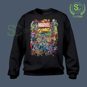Marvel Comics Heroes Group Sweatshirt
