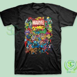 Marvel Comics Heroes Group T-Shirt