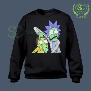 Rick and Morty Zombie Black Sweatshirt