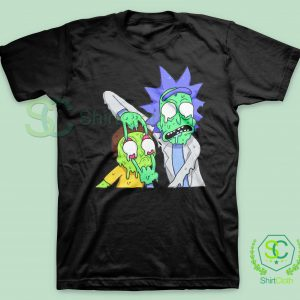 Rick and Morty Zombie Black T Shirt