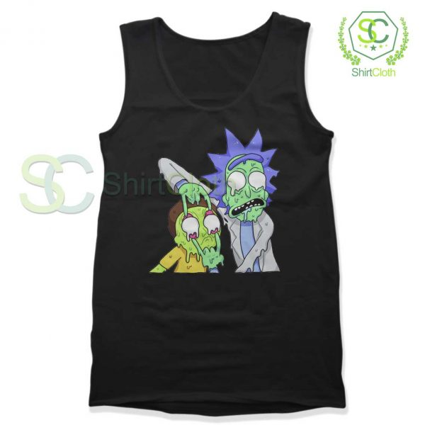 Rick and Morty Zombie Black Tank Top