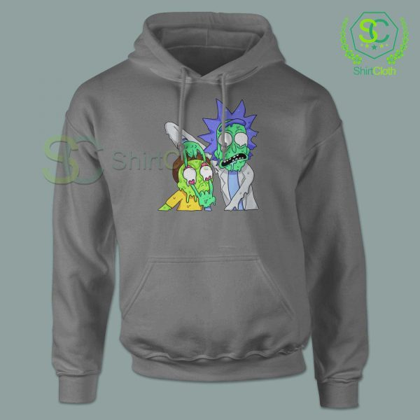 Rick and Morty Zombie Gray Hoodie