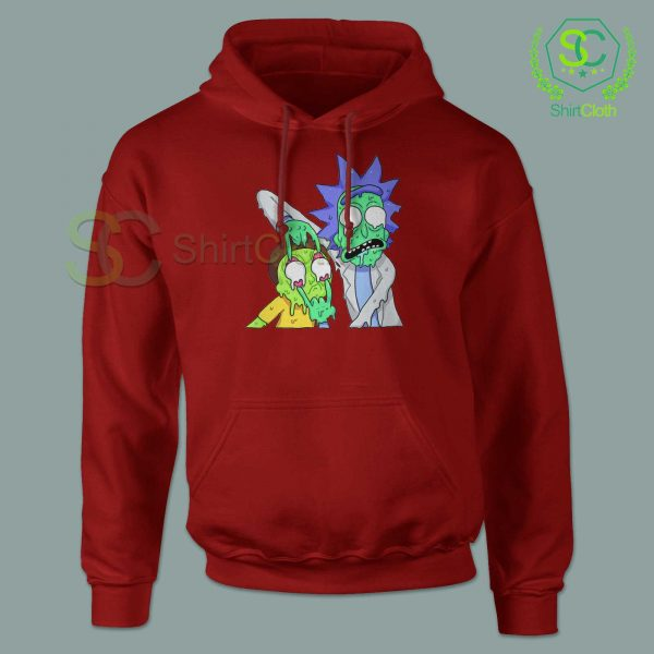 Rick and Morty Zombie Red Hoodie