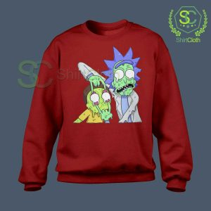 Rick and Morty Zombie Red Sweatshirt