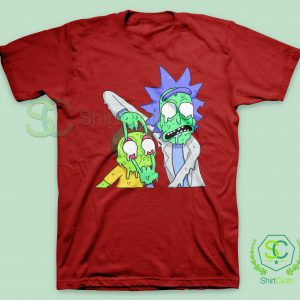 Rick and Morty Zombie Red T-Shirt