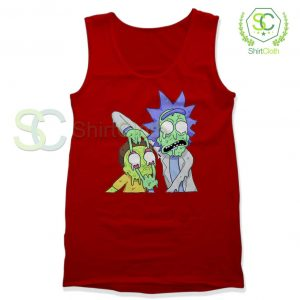 Rick and Morty Zombie Red Tank Top