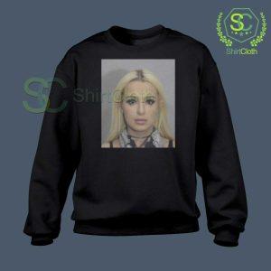 Tana Mongeau Coachella Mugshot Black Sweatshirt