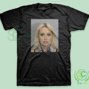 Tana Mongeau Coachella Mugshot Black T Shirt