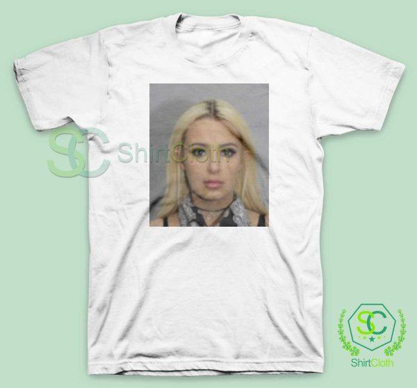 Tana Mongeau Coachella Mugshot White T Shirt